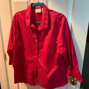 Chico's size 3 which is XL 3/4 sleeve blouse